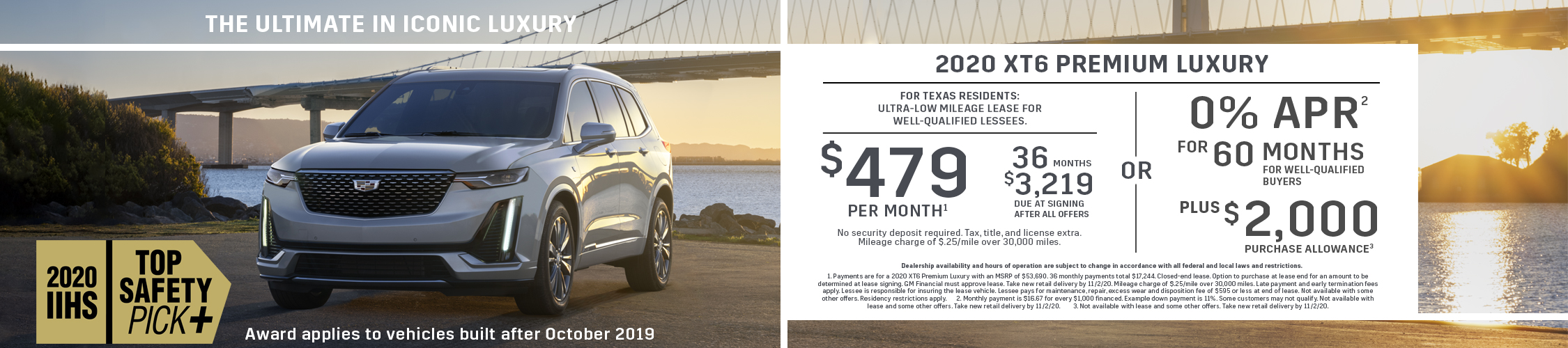 2020 XT6 Premium Luxury: Lease Offer (Image) - 865b59